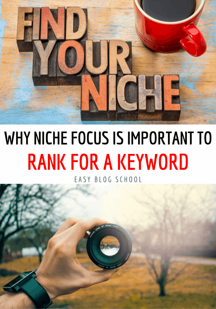 Why niche focus is important to rank for a keyword