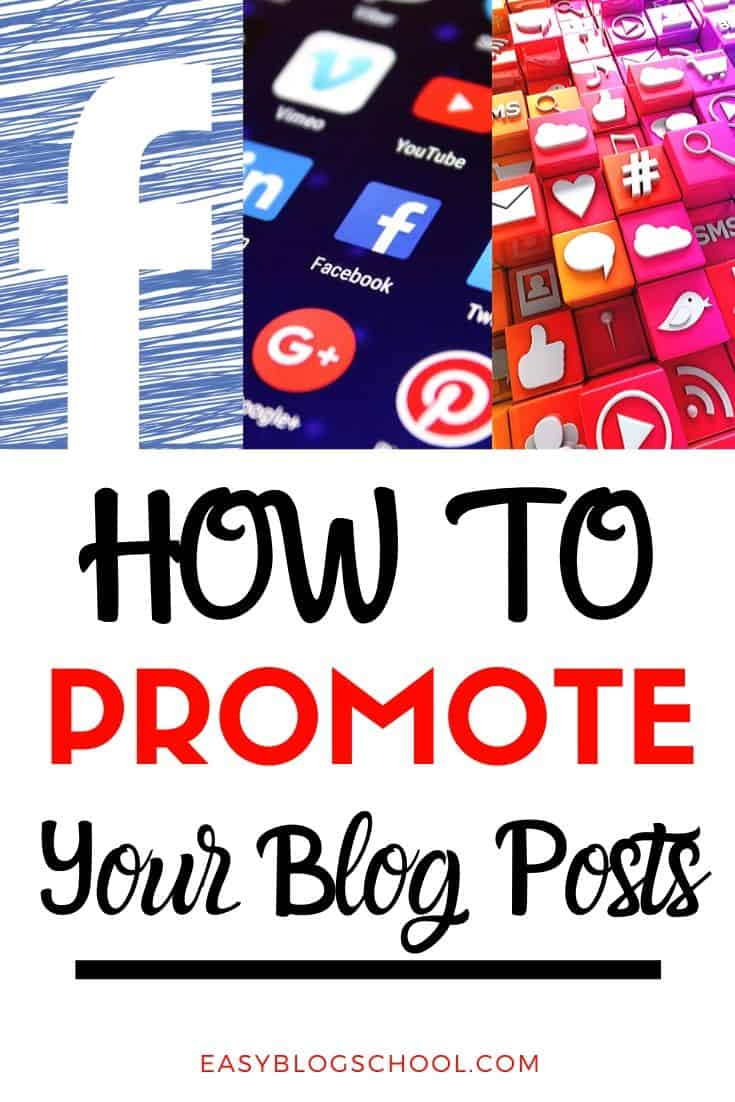 Collage of social media icons for how to promote your blog posts
