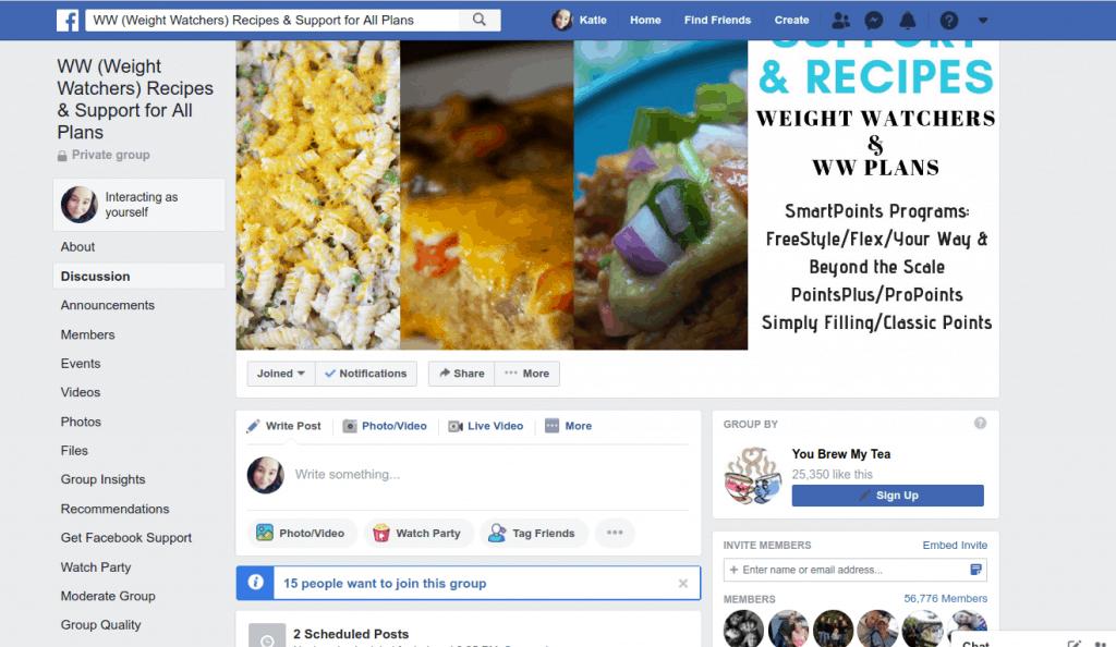 Screnshot of a Facebook Group