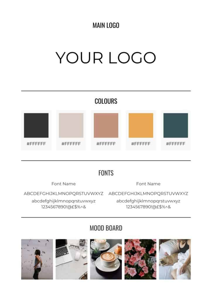 blog branding board