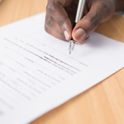 Paper Contract for Blog Sponsorships