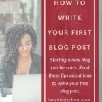 How to Write Your First Blog Post PInterest